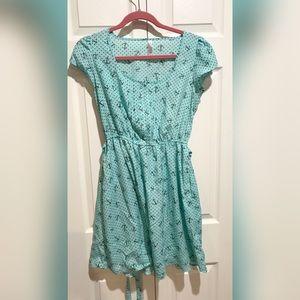 Light blue anchor dress
